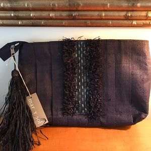 Brand new navy clutch